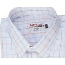 Radhes -AMBPink  FORMAL Office Wear Shirts WRINKLE FREE Checks Shirts Everyday Wear