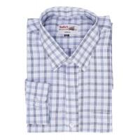 Radhes -SC01Blue  FORMAL Office Wear Shirts WRINKLE FREE Checks Shirts Everyday Wear
