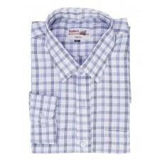 Radhes -SC01Blue  FORMAL Office Wear Shirts WRINKLE FREE Checks Shirts Everyday Wear