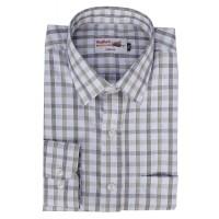 Radhes -SC01Bro  FORMAL Office Wear Shirts WRINKLE FREE Checks Shirts Everyday Wear