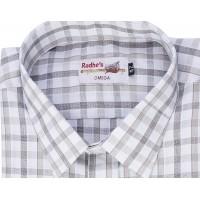 Radhes -SC01Grey  FORMAL Office Wear Shirts WRINKLE FREE Checks Shirts Everyday Wear