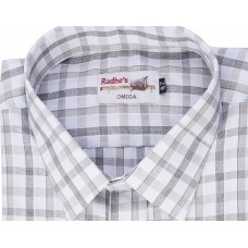 Radhes -SC01Grey  FORMAL Office Wear Shirts WRINKLE FREE Checks Shirts Everyday Wear