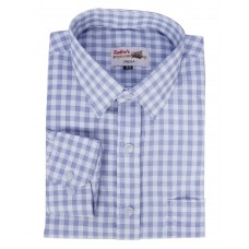 Radhes -SC02Blue  FORMAL Office Wear Shirts WRINKLE FREE Checks Shirts Everyday Wear