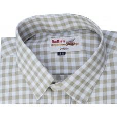 Radhes -SC02Mus  FORMAL Office Wear Shirts WRINKLE FREE Checks Shirts Everyday Wear